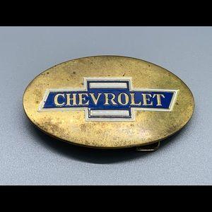 Other - Rare Vintage 1978 Chevrolet Brass Belt Buckle